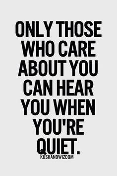 Those who care...