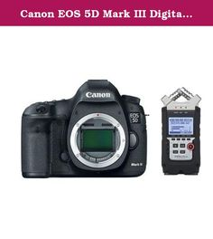 Canon EOS 5D Mark III Digital SLR Camera Body - USA Warranty - Bundle With Zoom H4n Pro Handy Mobile 4-Track Recorder. Canon EOS 5D Mark III Pro HDSLR the Long-awaited successor to groundbreaking Canon 5D Mark II The Canon EOS 5D Mark III is an HDSLR designed to build on the unprecedented success of its predecessor, the Canon EOS 5D Mark II. The 5DMII broke new ground in the world of HD video, offering true high-resolution, cinema-quality video capture for the first time in a DSLR, and...