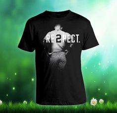 Menghormati Derek Jeter Re2pect Kustom T-shirt, layar cetak T-shirt, Awesome T-shirt untuk Pria, Ukuran S --- 5XL
