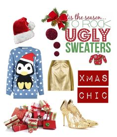 """Xmas chic"" by olliebogdou on Polyvore featuring Topshop, Oscar de la Renta and Glamorous"
