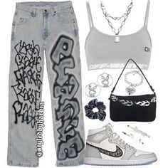 Swag Outfits For Girls, Teenage Outfits, Teen Fashion Outfits, Cute Casual Outfits, Edgy Outfits, Retro Outfits, Grunge Outfits, Look Fashion, Hipster Fashion
