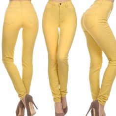 High Waist White Skinny Jeans with Laser Cut Knee ||www ...
