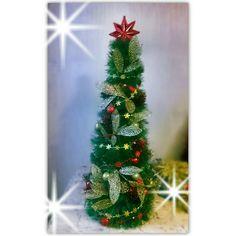 Новогодний декор. ёлочка из мишуры своими руками. Декор ёлки красно-золотой.#Xmas #fireplace #Xmastree #red&gold #новогоднийдекор