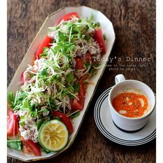 instagram - #夕飯の1品 。 豚しゃぶサラダ。 豆乳ゴマダレで。
