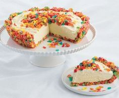 Fruity Pebble Ice Cream Pie- I will be making this as soon as lent is over and I can eat fruity pebbles again!!