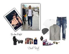 """""""Sem título #1948"""" by dedebrito ❤ liked on Polyvore featuring Gucci, Dsquared2, NIKE, Ralph Lauren Purple Label, The Art of Shaving, Versace, Outdoor Research, Motorola, Ray-Ban and Givenchy"""