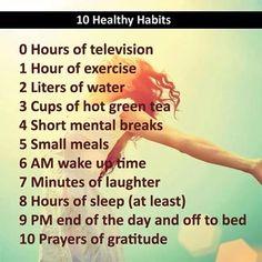 Smart healthy habits! Post on your fridge.......