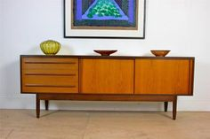 Mid-Century Sideboard by White & Newton Vintage Teak Lined with Sycamore | eBay