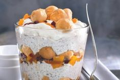 Trifle s profiterolkami a opilým ovocem Trifle, Pudding, Treats, Dishes, Cooking, Sweet, Food, Kitchens, Sweet Like Candy