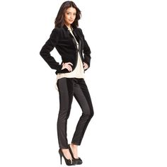 RACHEL Rachel Roy Pants, Tuxedo Paneled Leggings ($45) found on Polyvore