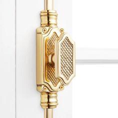 BOLTS Furniture Cabinet Drawer Doors 2 x BRASS FLAT LATTICE HANDLE KNOB PULLS