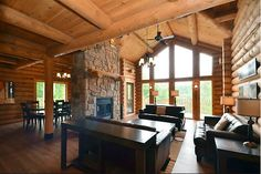 http://www.cottagecountry.com/listings/181699/ Rustic Mont Tremblant, Quebec Luxury Chalet!