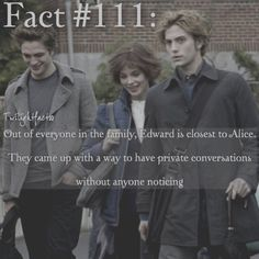 "803 Synes godt om, 5 kommentarer – Twilight Facts (@twilightfactss) på Instagram: ""~ I love the relationship between Edward and Alice - Autumn…"""