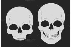 Skull chalk clip art. Vector. Human Icons. $5.00