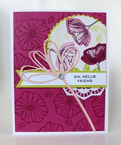 Oh So Eclectic, Stampin' Up, Sunshine Wishes thinlets,