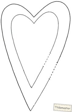 выкройка сердечек