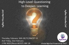 High-Level Questioning to Deepen Learning Higher Level Questioning, High Level, This Or That Questions, Learning, Teaching, Studying