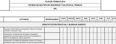 plan de trabajo 2014 SGSST | Bienvenido