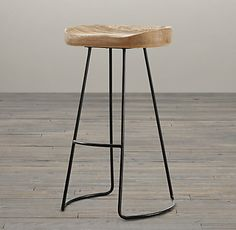 bar stool for the house - this one has potential - Oak Tractor Seat Stool | Restoration Hardware