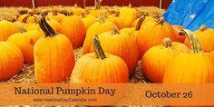National Pumpkin Day October 26