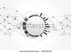 Abstract technology futuristic network
