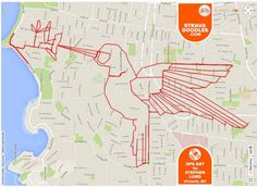 Artist Rides Bike Around City to Create Elaborate Doodles with GPS Routes Lund, Map Art, Doodles, Street View, Messages, Create, City, Drawings, Artwork