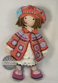 Crochet Pattern for Doll ZOEY pdf Deutsch English