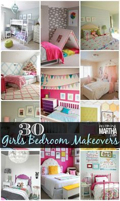 30 DIY Ideas for a Girls Bedroom Makeover