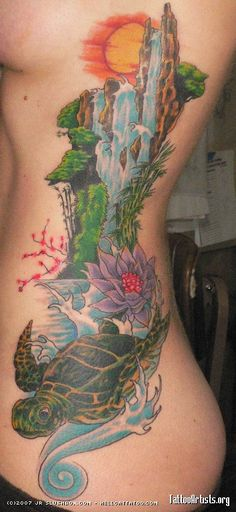 1000 ideas about waterfall tattoo on pinterest polar for Arm mural tattoos