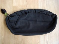 Vintage 1950s Wool Clutch Brown Handbag with Lucite by bycinbyhand, $35.00