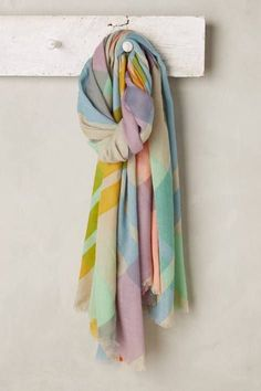 Pastel Plaid Scarf by Moismont | Pinned by topista.com