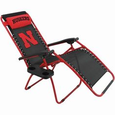 Nebraska Cornhuskers Zero Gravity Chair                                                                                                                                                      More