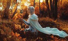 Trevillion Images - magical-woman-wearing-white-cloak-in-woods Desktop Background Images, Autumn Lights, Portraits, Rose Wallpaper, Yoga, Deep Sea, Photo Library, Photo Art, Fine Art