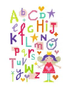 "Fairy Alphabet Sampler (CSKFA141)   New Alphabet cross stitch kit designed by The Stitching Shed.   Contents: 14 count aida fabric, anchor threads, needle, chart and full instructions.    Size: 7"" x 9"".   RRP £17   *Usually dispatched within 5 working days*"