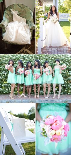 Mint bridesmaids dresses... IN LOVE!