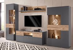 Order now FORTE wall unit cheap in yourhome online shop - Living Room Tv Cabinet, Living Room Wall Units, Living Room Tv Unit Designs, Interior Design Living Room, Living Rooms, Tv Cabinet Wall Design, Tv Wall Design, Tv Unit Furniture Design, Home Decor Furniture