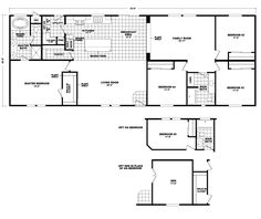 Model HI2872C Home Floor Plan | Manufactured and/or Modular Floor Plans available floor plan
