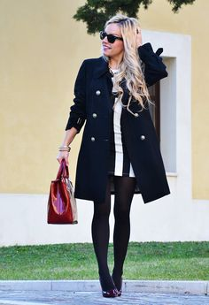 Perfect winter look for my striped dress