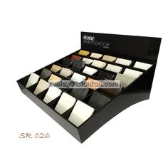Desktop Acrylic Display Box/quartz Stone Sample Display Racks Sr026 , Find…