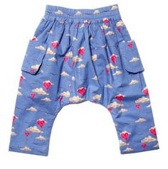 Little Duckling Balloon Print Baby Pants