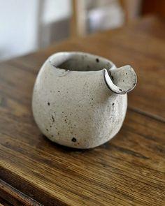 creamer * pottery * moegi片口 大  - 器と暮らしの道具 OLIOLI