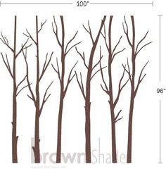 Winter Tree Forest Nature Wall Decal by brownshades on Etsy