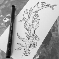 deer tattoo by Broken Ink follow instragram @broken_tattoo