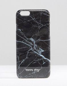 $32 Happy Plugs Black Marble iPhone 6/6s/7 Case