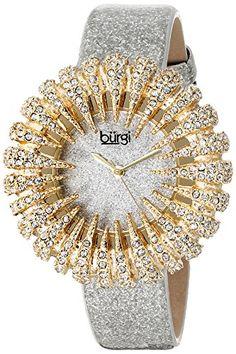 Burgi Women's BUR112YGW Analog Display Japanese Quartz Silver Watch Burgi http://www.amazon.com/dp/B00M3TAGSM/ref=cm_sw_r_pi_dp_IZHpvb1SW00MS