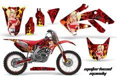 Honda Graphic Kits - Honda MX Decals and Stickers for dirt bikes crf cr cr crf crf xr cr Honda Dirt Bike, Dirt Bikes, Yamaha Yz, Cross Wallpaper, Motocross Gear, Cafe Racer Bikes, Racing Bike, Motorcycle, Kit