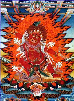Padma heruka, the wrathful form of Amitabha.