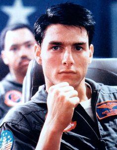 "Tom Cruise en ""Top Gun"", 1986"