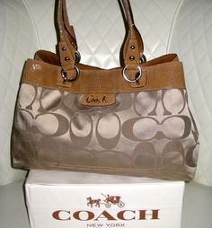 COACH Penelope Signature Sateen Shopper Bag . Starting at $25