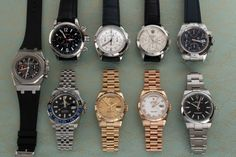 """Today we've posted four Rolex watches, plus a variety of chronographs including: Audemars """"City Of Sails"""" Royal Oak , a pair from Jaeger-Lecoultre, a Glashutte Chrono, and a 2008 Tudor Prince. Popular Watches, Royal Oak, Mechanical Watch, Whats New, Tudor, Chronograph, Rolex Watches, Prince, City"""